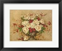 Framed Autumn Rose Urn