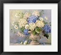 Framed Blue and White Delight