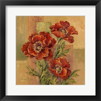 Framed Terracotta Poppies