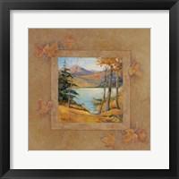 Framed Autumn Lodge II