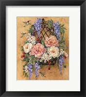 Framed Hummingbird Floral
