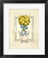 Framed Yellow Rose I