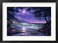 Framed Beach at Night