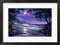 Framed Beach at Night