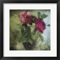 Framed Tea and Roses II
