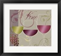 Framed Modern Wine I