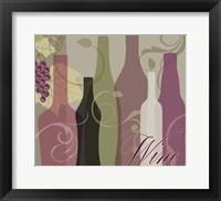 Framed Modern Wine III