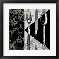 Dinner Conversation I Framed Print