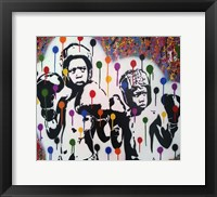 Framed Boxer Rainbow Drips