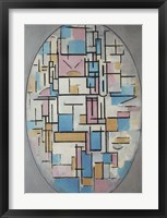Framed Composition in Oval with Color Planes I, 1914