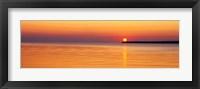 Framed Sunset over Lake Superior, Wisconsin