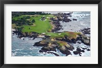 Framed Golf Course on an Island, Pebble Beach Golf Links, California