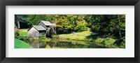 Framed Watermill Near a Pond, Mabry Mill, Virginia