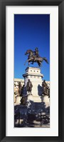 Framed Low Angle View of an Equestrian Statue, Richmond, Virginia