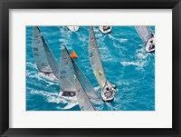 Framed Sailboats in Acura Miami Grand Prix, Miami, Florida