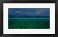 Framed Cloudscape over Caribbean sea, Great Exuma Island, Bahamas