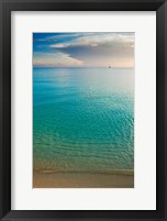 Framed Scenic View of Seascape at Sunset, Great Exuma Island, Bahamas