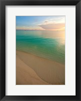Framed Elevated View of Beach at Sunset, Great Exuma Island, Bahamas
