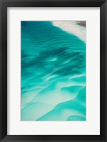 Framed Aerial View of Clear Turquoise Water in Caribbean Sea, Great Exuma Island, Bahamas