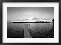 Framed Pier in Lake Minnetonka, Minnesota
