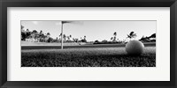 Framed Close Up Golf Ball And Hole, Hawaii