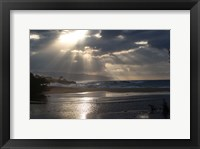 Framed Scenic View of Beach during Sunset, Hawaii