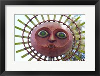 Framed Sun Mask during Summer Solstice Celebration in Santa Barbara, California