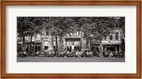 Framed People at Sidewalk Cafe, The Hague, Netherlands