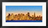 Framed Illuminated Cityscape at the Waterfront, San Francisco Bay, California