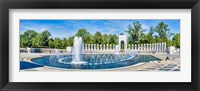 Framed View of Fountain at National World War II Memorial, Washington DC