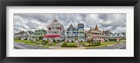 Framed Cottages in a row, Beach Avenue, Cape May, New Jersey