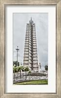 Framed View of Jose Marti Memorial at Plaza de la Revolution, Havana, Cuba