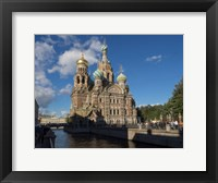 Framed Church of the Savior on Blood, St. Petersburg, Russia