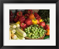 Framed Vegetables for Sale at a Market Stall, Helsinki, Finland