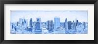 Framed Chicago Buildings in Blue