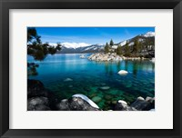 Framed Rocks in Lake Tahoe, California