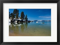 Framed Scenic View of Lake Tahoe, California