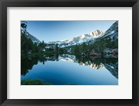 Framed Reflection of Mountain in a River, Sierra Nevada, California
