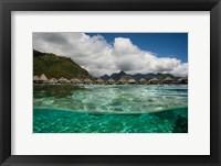 Framed Bungalows on the Beach, Moorea, Tahiti, French Polynesia