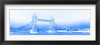 Framed Tower Bridge on Thames River, London, England