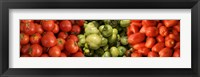 Framed Close-up of Assorted Tomatoes