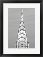 Framed Close up of the Chrysler Building at Sunset (BW)