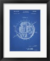 Framed Blueprint Earth Satellite Patent