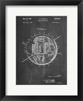 Framed Chalkboard Earth Satellite Patent
