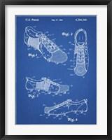 Framed Blueprint Soccer Cleats Patent