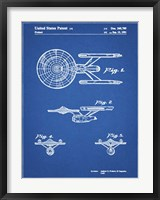 Framed Blueprint Starship Enterprise Patent