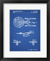 Framed Blueprint Starship Enterprise Patent