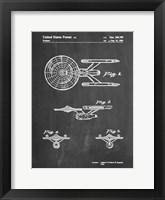 Framed Chalkboard Starship Enterprise Patent