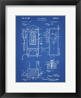 Framed Blueprint Wall Phone Patent