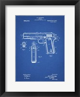 Framed Blueprint Colt 1911 Semi-Automatic Pistol Patent